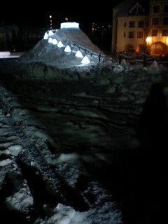 氷の村、建設中